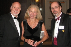 "With blockbuster bestseller Jeffery Deaver (""The Bone Collector4"") at right, and partner Madelyn Warcholik"